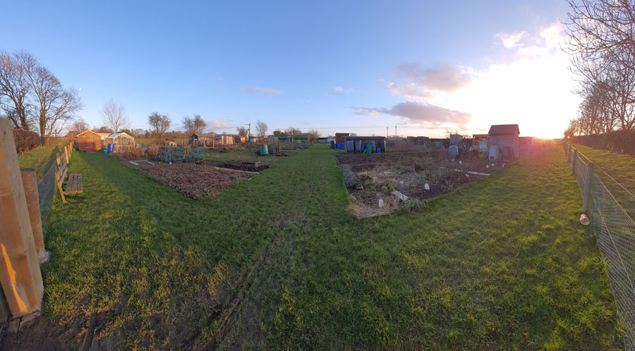 Scruton Allotments panorama